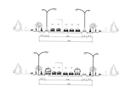 联丰路-百丈路公交专用道设计字体公布时刻方案巅峰设计图片