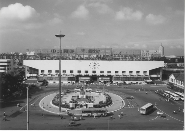 90年代经过改建的宁波火车南站