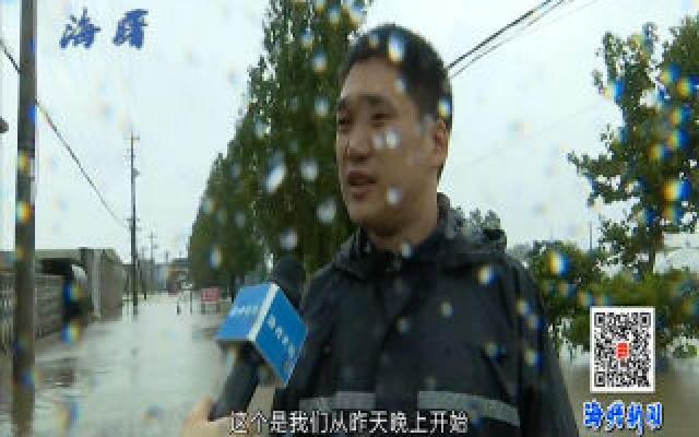 石�\街道:抗击台风 守护家园